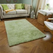 Softness Green Plain Shaggy Rug by Oriental Weavers