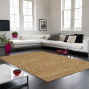 Soumak Jute Natural Plain Rug By Asiatic
