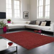 Soumak Jute Red Plain Rug By Asiatic