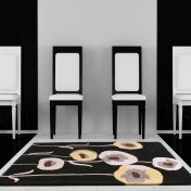 Sovereign Black Floral Wool Rug By Ultimate Rug