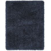 Spiral Navy Shaggy Rug by Asiatic