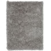 Spiral Silver Shaggy Rug by Asiatic