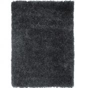 Spiral Steel Shaggy Rug by Asiatic