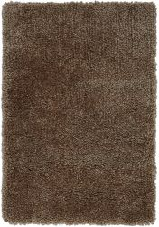 Spiral Taupe Shaggy Rug by Asiatic