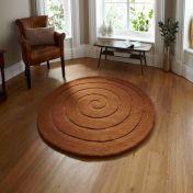 Spiral Brown Rug By Think Rugs