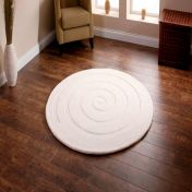Spiral Ivory Wool Circle Rug By Think Rugs