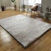 Splendour Shadow Ivory Plain Shaggy Rug By Flair Rugs