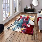 Sunrise 9349A Multi-coloured Designer Rug by Think Rugs