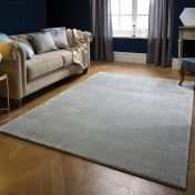 Swarovski Silver Dotted Plain Luxmi Rug by Flair Rugs