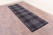 Tartan Blue Chequered Runner by Ultimate Rug