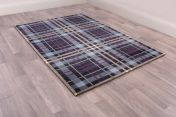 Tartan Blue Chequered Rug by Ultimate Rug