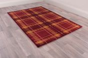 Tartan Red Chequered Rug by Ultimate Rug