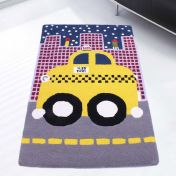 Unique Kids Taxi Wool Rug by Prestige