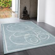 Teddy Bear Blue Rect Rug By Asiatic