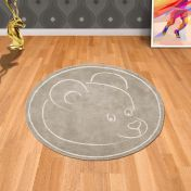 Teddy Bear Beige Circle Rug By Asiatic