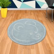 Teddy Bear Blue Circle Rug By Asiatic