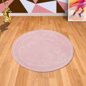 Teddy Bear Pink Circle Rug By Asiatic