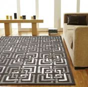 Unique Temple Geometric Design Wool Rug by Prestige