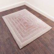 Time Gate Natural 3D Shaggy Rug by Ultimate Rug
