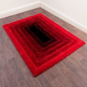Time Gate Red 3D Shaggy Rug by Ultimate Rug