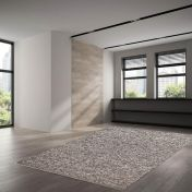 655 Berberina Super Grey Multi Natural Wool Rug by Theko
