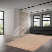 500 Douro Brown Natural Wool Rug by Theko