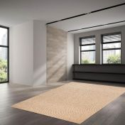 506 Douro Light Brown Natural Wool Runner by Theko