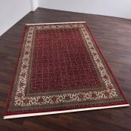 Theko Bidjar AO Red/Cream Sirsa Silk Classic Wool Rug