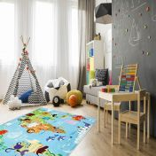 Torino Kids TOK 233 World Map Rug