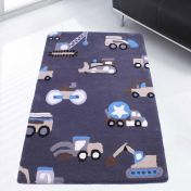 Unique Kids Truck Style Wool Rug by Prestige
