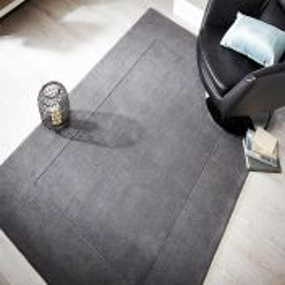 Tuscany Sienna Light Grey Plain Wool Rug By Flair Rugs