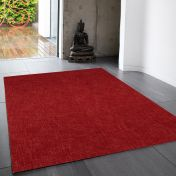 Tweed Berry Plain Wool Rug By Asiatic