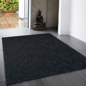 Tweed Charcoal Plain Wool Rug By Asiatic