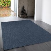 Tweed Denim Plain Wool Rug By Asiatic
