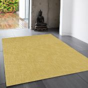 Tweed Ochre Plain Wool Rug By Asiatic