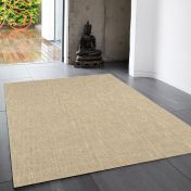 Tweed Sand Plain Wool Rug By Asiatic