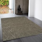 Tweed Smoke Plain Wool Rug By Asiatic
