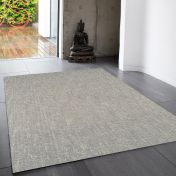 Tweed Stone Plain Wool Rug By Asiatic