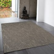 Tweed Taupe Plain Wool Rug By Asiatic