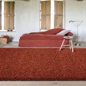 Twilight 039 0001 1188 Terracotta Shaggy Rug By Mastercraft