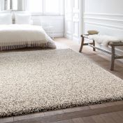 Twilight 039 0001 2211 Linen White Shaggy Rug by Mastercraft