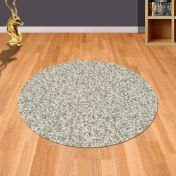 Twilight 039 0001 2211 Linen White Shaggy Circle Rug by Mastercraft
