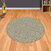 Twilight 039 0001 6611 Linen Beige Shaggy Circle Rug by Mastercraft
