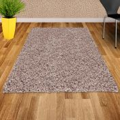 Twilight 039 0001 6611 Linen Beige Shaggy Rug by Mastercraft