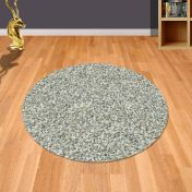 Twilight 039 0001 6699 White Silver Shaggy Circle Rug by Mastercraft