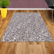Twilight 039 0001 6699 White Silver Shaggy Rug by Mastercraft