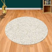 Twilight 039 0001 6926 White Shaggy Circle Rug by Mastercraft