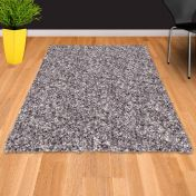Twilight 039 0001 9999 Silver Shaggy Rug by Mastercraft