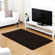Indulgence Choc Plain Shaggy Rug By Ultimate Rug