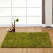 Indulgence Lime Plain Shaggy Rug By Ultimate Rug